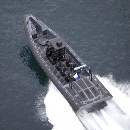 military boat / inboard waterjet / rigid hull inflatable boat