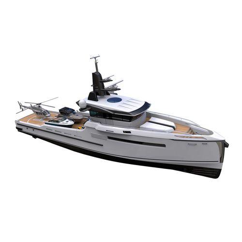 cruising motor yacht / hard-top / displacement hull