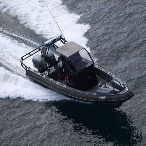 crew boat / outboard / rigid hull inflatable boat