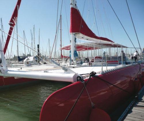 sailboat mast / aluminum / custom