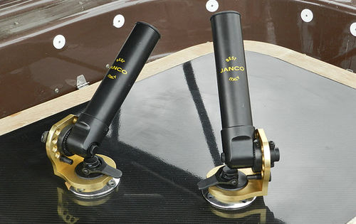 boat rod holder / built-in / rotating