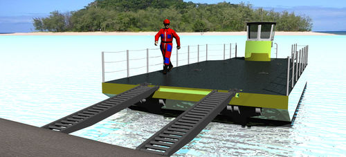work barge / container-transportable / aluminum