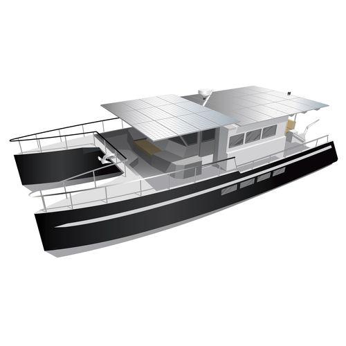 power catamaran motor yacht / ocean cruising / expedition / trawler