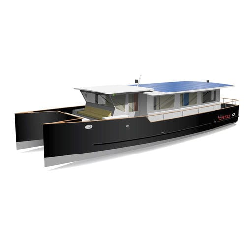 power catamaran motor yacht / cruising / for river navigation / trawler