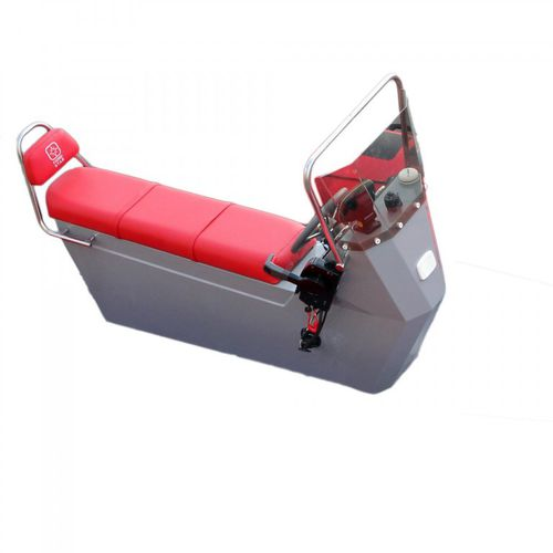 jockey seat / for boats / fixed / with built-in pilot console