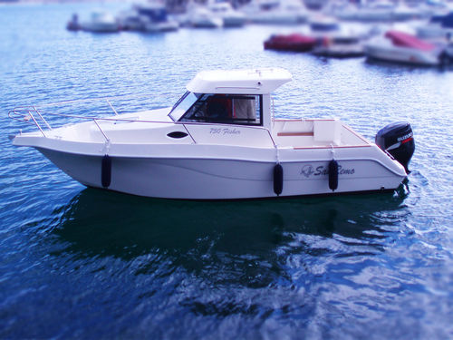 outboard cabin cruiser / hard-top / sport-fishing