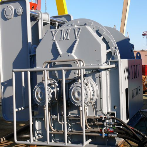 active heave compensation winch / for ships / towing / oceanographic research