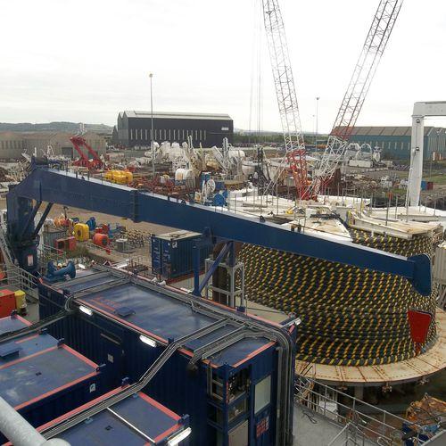 stiff boom crane / for ships / port / for marinas