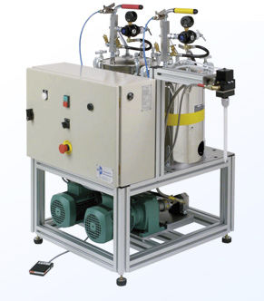 resin metering - mixing unit / with gear pump / shipyard