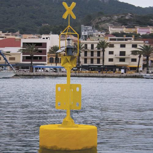 beacon buoy / special mark / with radar reflector / polyethylene