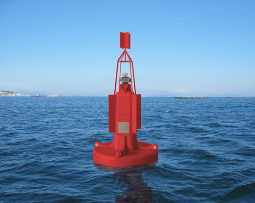 beacon buoy / high seas / polyethylene