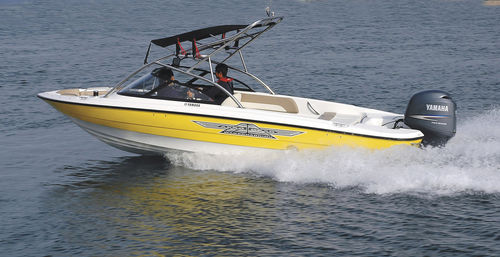 outboard runabout / bowrider / wakeboard / with T-top