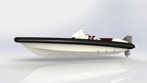 inboard inflatable boat / outboard / diesel / rigid
