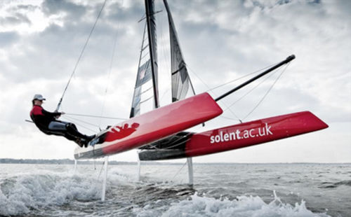 foiling sport catamaran / double-handed / double-trapeze / asymmetric spinnaker