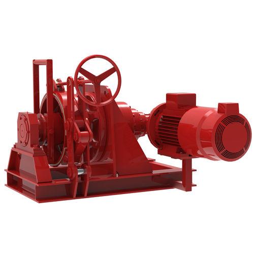 ship windlass / horizontal / hydraulic / single-drum