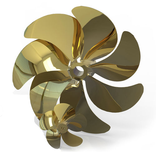 yacht propeller / for ships / fixed-pitch / shaft drive