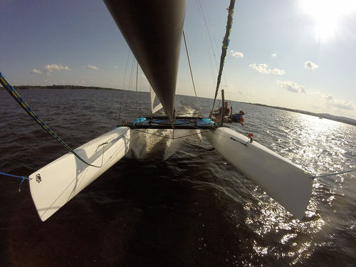 foiling sport catamaran / recreational / double-handed