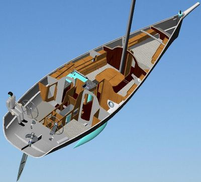 monohull / fast cruising / open transom / with 2 or 3 cabins