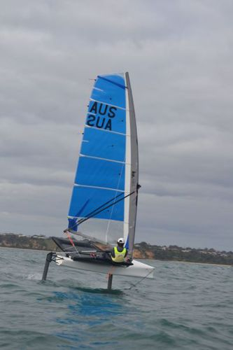 single-handed sailing dinghy / regatta / foiling