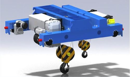draw-wire hoist / electric / compact / double-rail