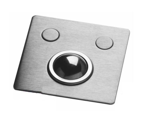 USB trackball / panel-mount / for ships