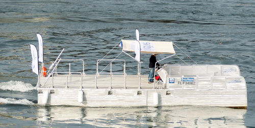 center console catamaran / inboard / solar-electric powered / dive