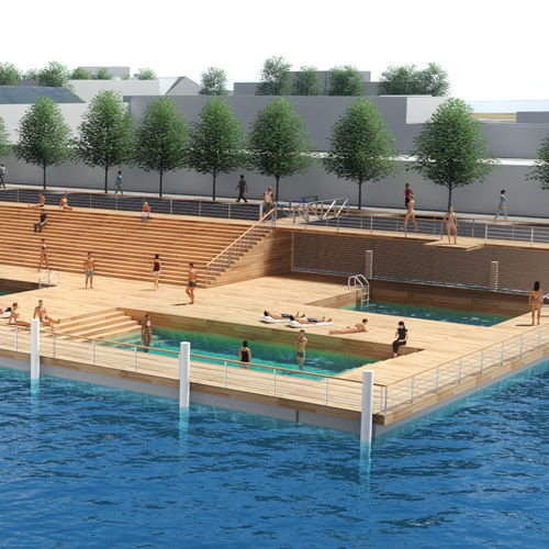 urban area platform / swim / floating / custom