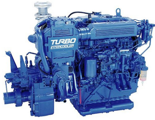 commercial marine engine : in-board diesel engine 100 - 300 hp (indirect injection, turbocharged) UM4BG1TCX (134 KW @ 2700 RPM -> 147 KW @ 2800 RPM) Isuzu motors