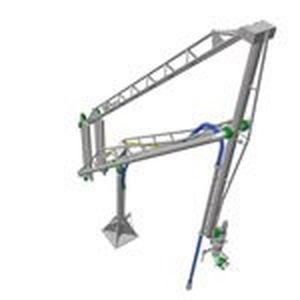 marine loading arm (with gas return line) MLA 260: 4''-24''/-200°C+300°C Kanon