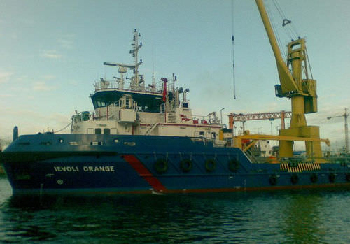 offshore support vessel : AHT - anchor handling tug vessel (shipyard) M/V IEVOLI ORANGE Selah Makine Ve Gemicilik Endüstri Tic A.S.
