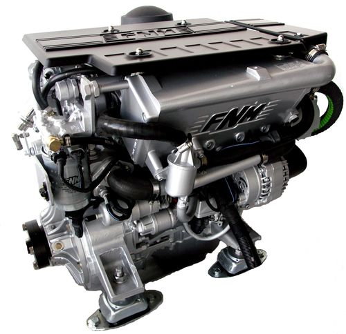 pleasure boat engine : in-board diesel engine 100 - 200 hp (jet-drive, common-rail, variable geometry turbocharger) MAX. 110 HP | HPE 110 JD Fnm Marine - CMD