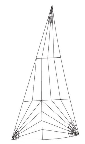 racing sail : headsail (tri-radial) ROLLY TASKER SAILS
