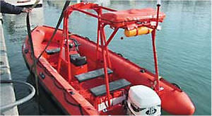 rescue boat : rigid inflatable boat (outboard, jockey console) BRIO 620 FRB Duarry