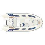 outboard inflatable boat / semi-rigid / side console / yacht tender