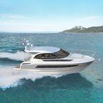 Inboard express cruiser / hard-top / 2-cabin / sundeck LEADER 33 Jeanneau - Motorboats