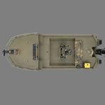 Outboard jon boat / center console / sport-fishing / aluminum 1860 MVX SPORTSMAN Triton Boats