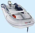 outboard inflatable boat / foldable / aluminum / aluminum deck