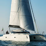 sailing catamaran / cruising-racing / open transom / carbon