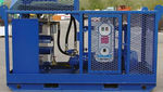 boat hydraulic power unit / for ships / for oil skimmers / electrically-powered