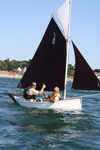single-handed sailing dinghy / recreational / gaff-rigged