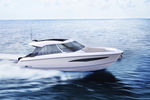 electric cabin cruiser / outboard / twin-engine / hard-top