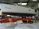 launch and recovery sailboat handling trailer (hydraulic launch) SW30 | 30T Hydrotrans