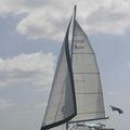sailboat in-boom furling system - HUNTER 460