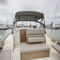 inboard center console boat / twin-engine / semi-displacement hull / open