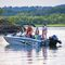 outboard bass boat / dual-console / sport-fishing / 6-person max.