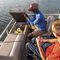 outboard pontoon boat / sport-fishing / 11-person max.