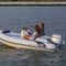 outboard inflatable boat / rigid / side console / 5-person max.
