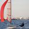 single-handed sailing dinghy / regatta / skiff / catboat
