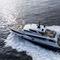 cruising super-yacht / flybridge / raised pilothouse / shaft drive