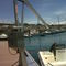 marina crane / folding / boat handling